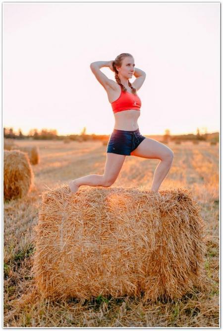 Анна Денисова упражнение выпады