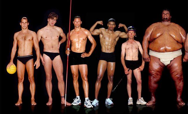 мужчины из разных видов спорта