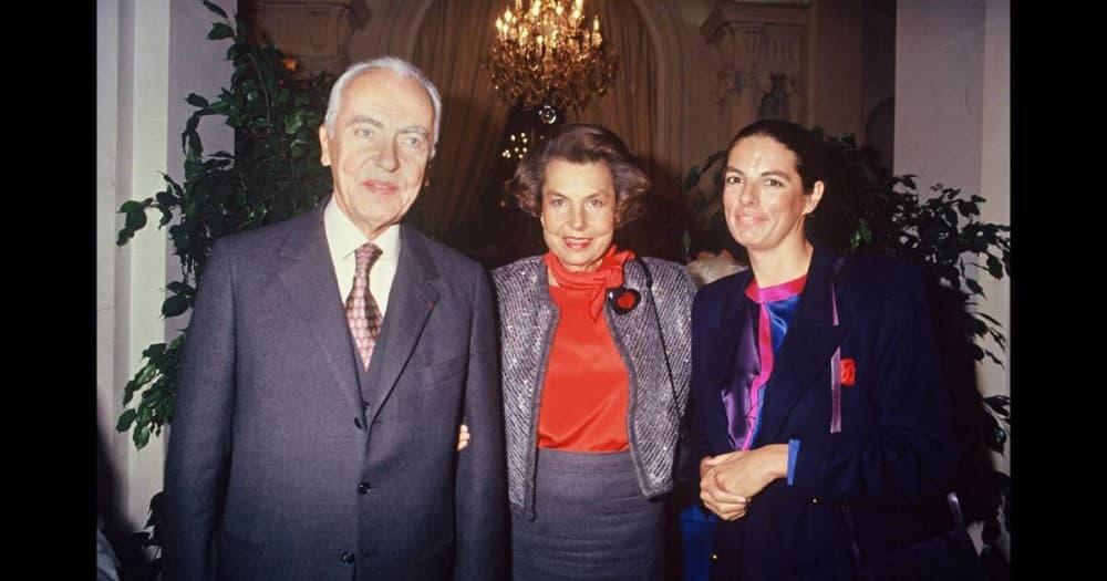 Франсуаза с матерью Лилиан и с отцом Андре