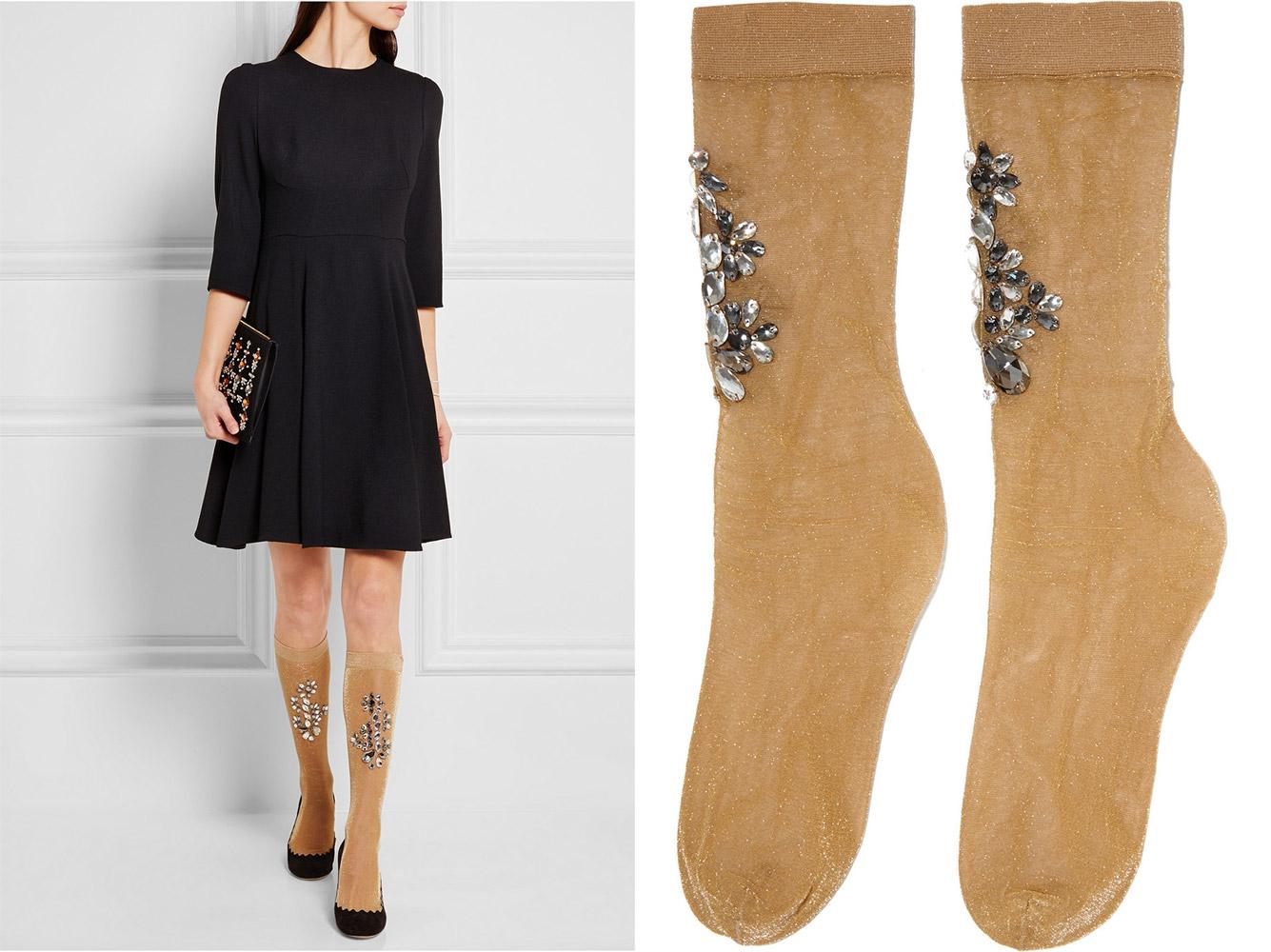 Dolce&Gabbana носки со стразами