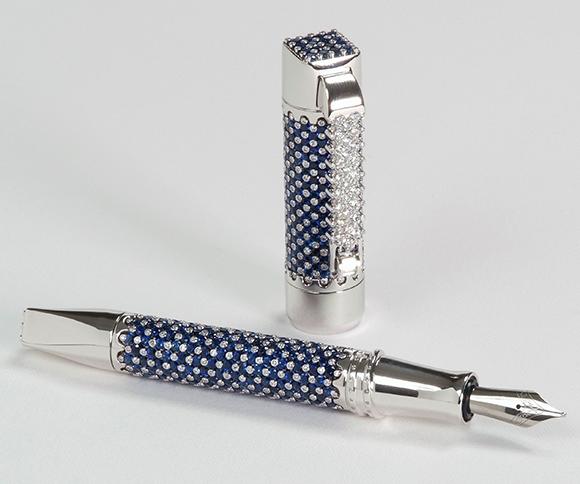Перьевая ручка Divina Blue Spirit от Franco Buzzelli