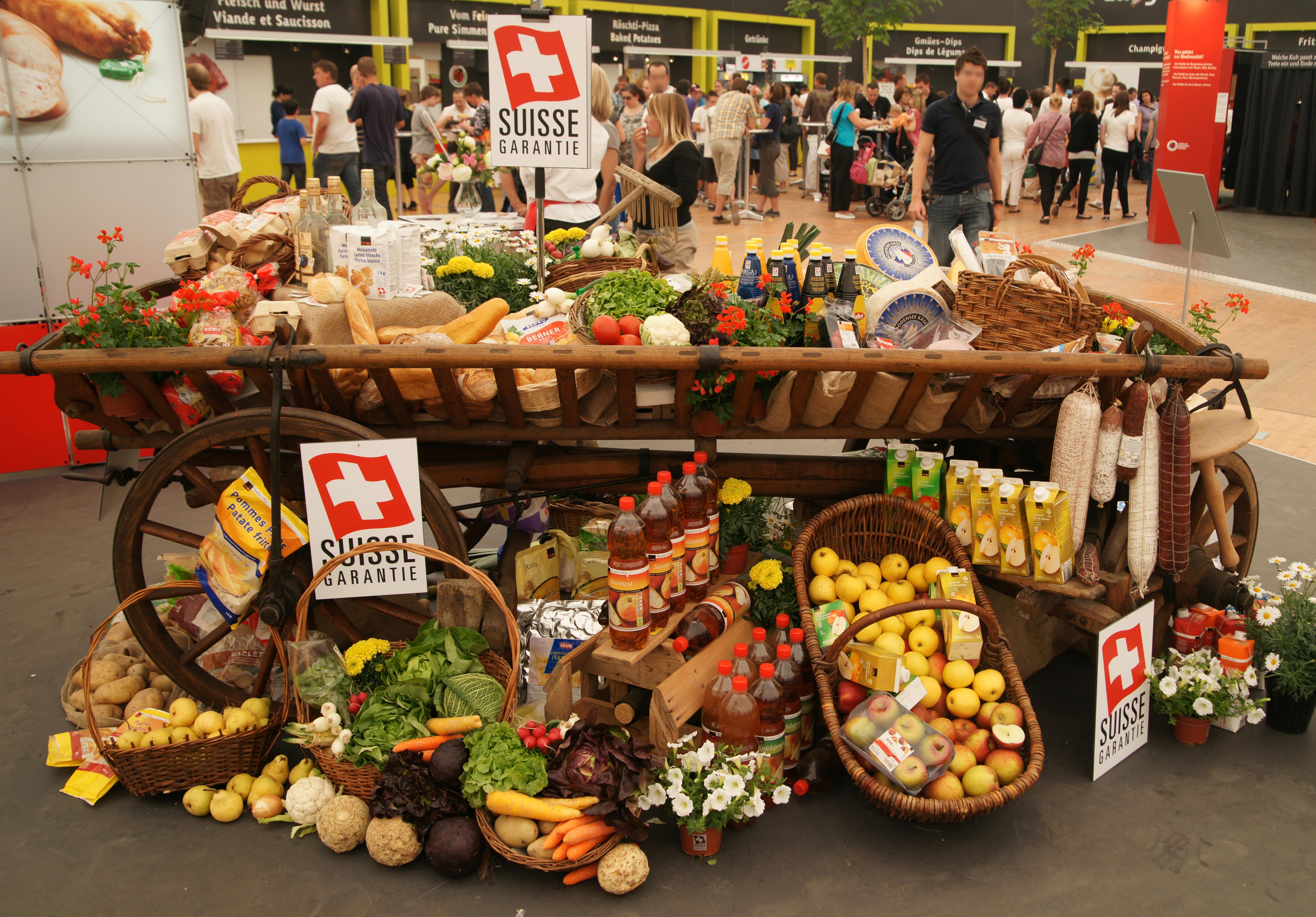 Продукты в Швейцарии