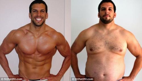 Похудение мужчины весом 95