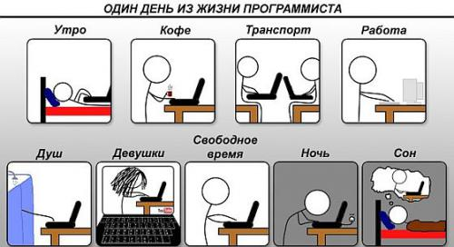 Распорядок дня программиста
