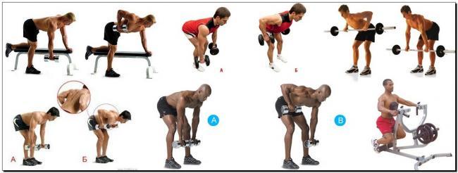горизонтальные тяги упражнения