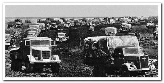 немецкие грузовики во время войны