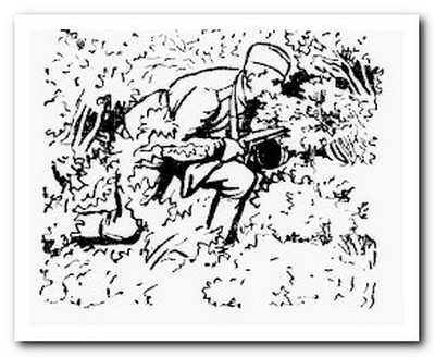 передвижение по лесу во время войны