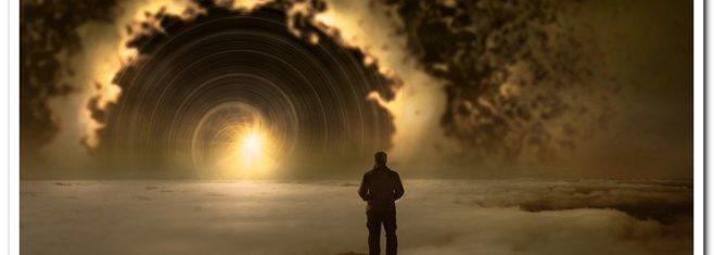 мужчина небо и туман
