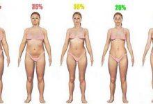 процент жира женщины