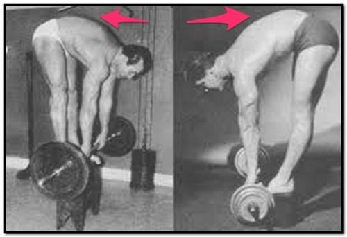 становая тяга с согнутой спиной