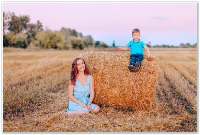 Анна Денисова с сыном