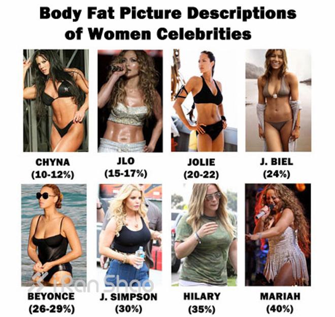 Процент жира у женщин