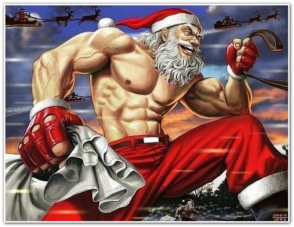 Дед Мороз качок