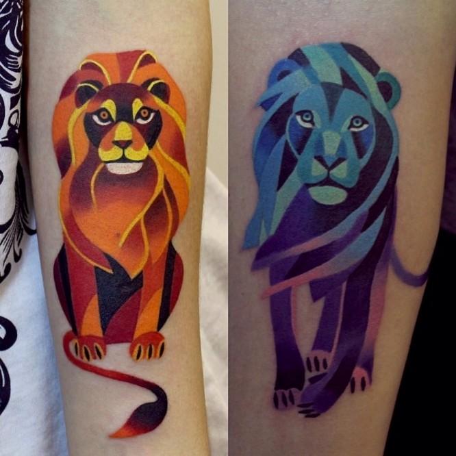 Львы. Геометрия