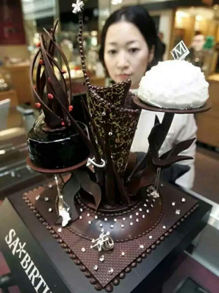 Рождественский алмазный шоколадный торт