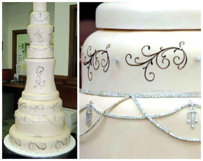 Торт в честь открытия свадебного салона в Далласе
