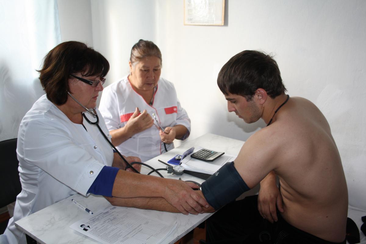 Студент летного училища на медкомиссии
