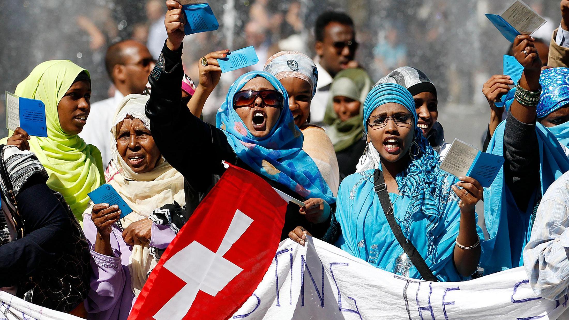 Протесты мигрантов в Швейцарии