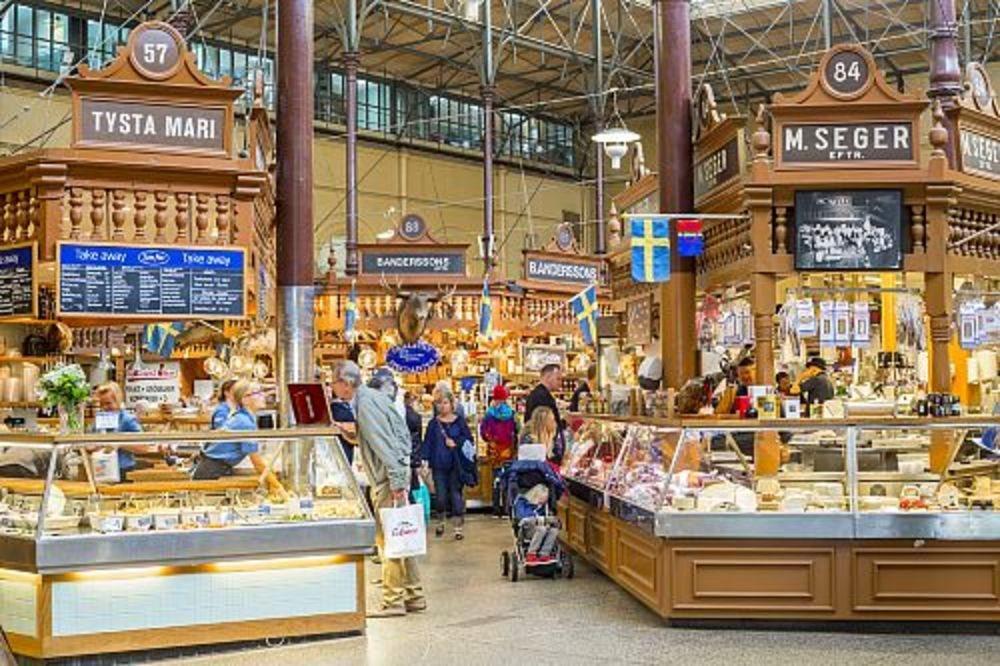 Рынок в Стокгольме Остермальм