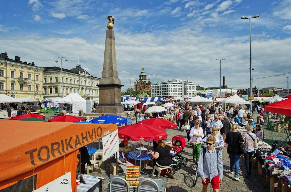 Рыночная площадь в Хельсинки. Кауппатори