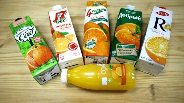 Какой апельсиновый сок Росконтроль не советует покупать