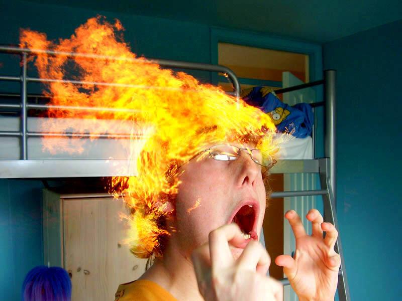 Пожар на голове
