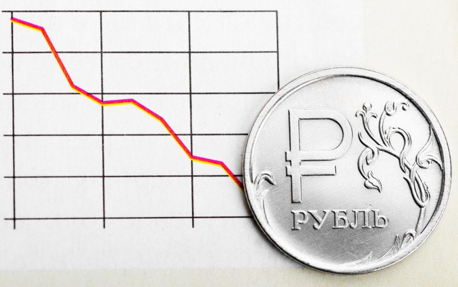 График флуктации и рубль