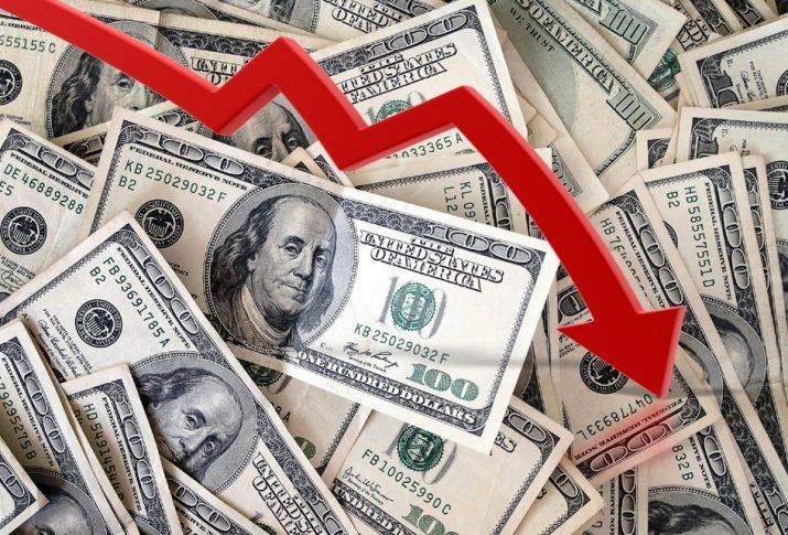 Доллары и красная стрелка