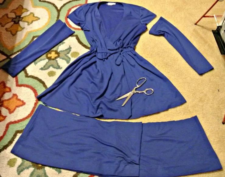 Обрезка платья