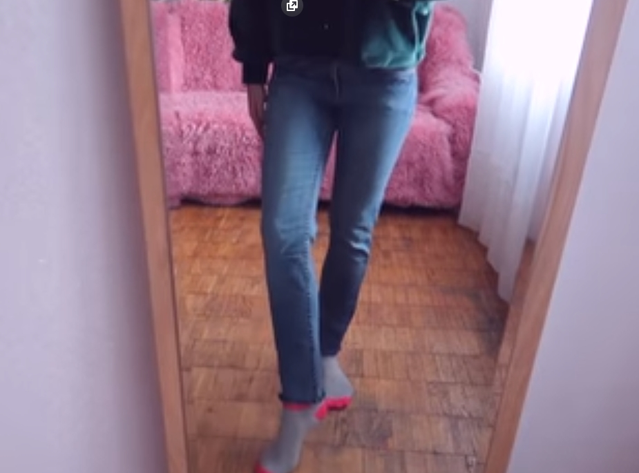 Обрезанные джинсы
