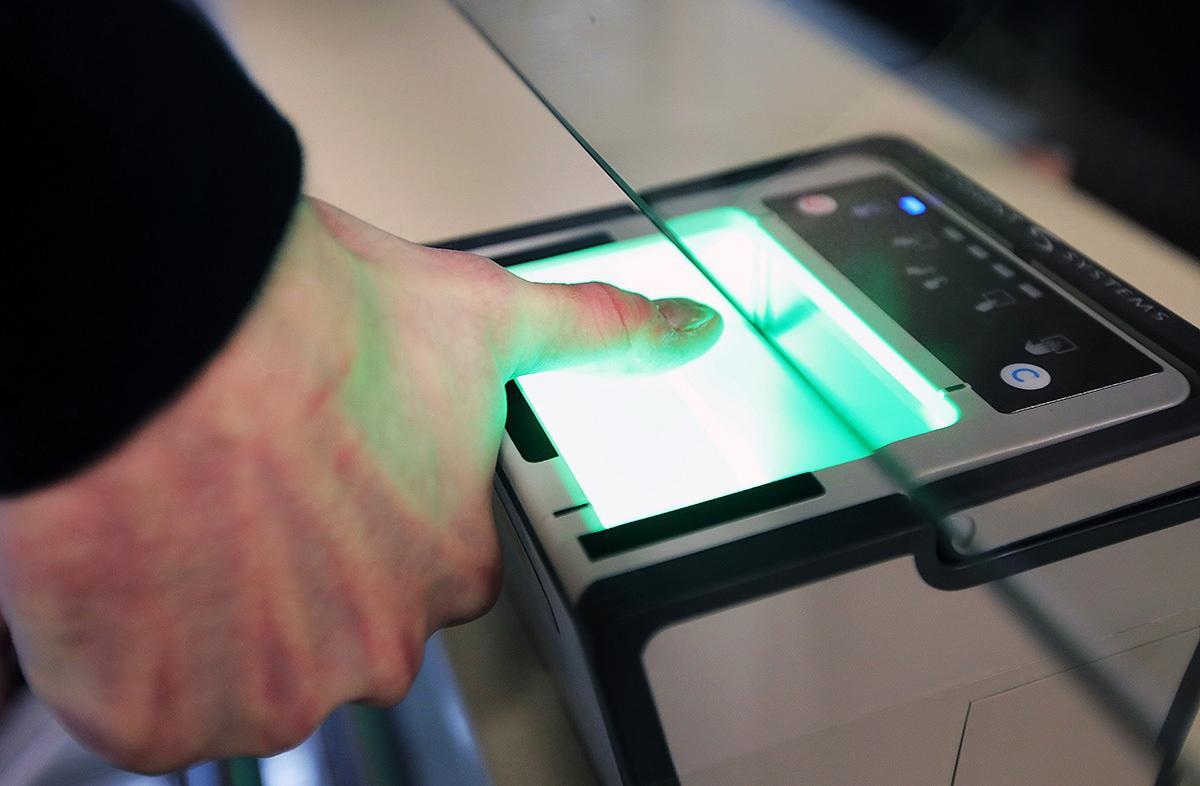 Сканирование отпечатка пальца
