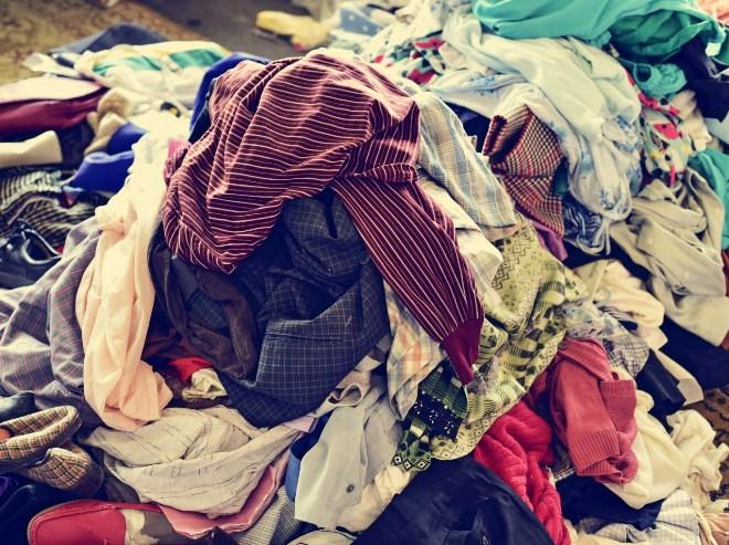 Скомканная одежда