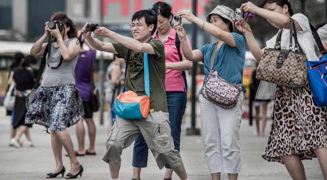 Китайцы фотографируют