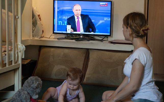 putin po televizoru
