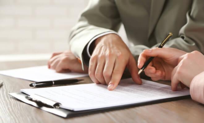 Изучение и подписание документа