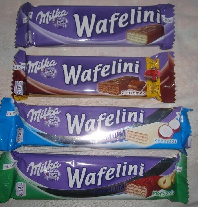 Шоколадно-вафельные батончики Milka