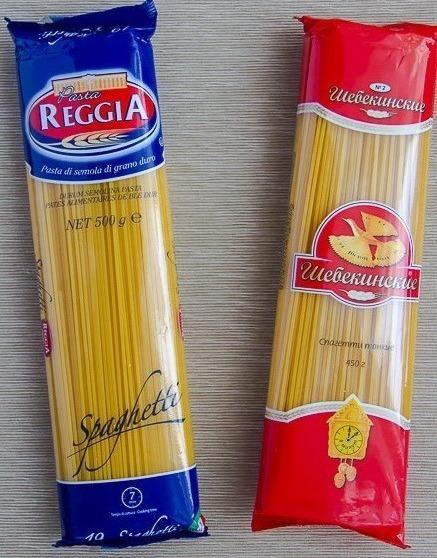 Спагетти в упаковке