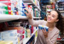Зубная паста в супермаркете