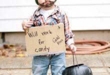 Костюм на Хэллоуин без трат