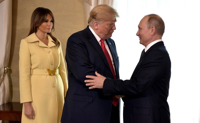 Трамп, Путин и Меланья