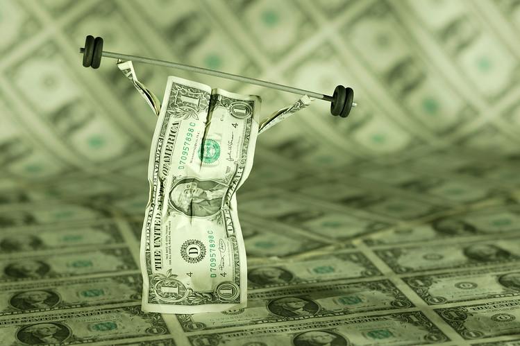 Долларовая купюра со штангой