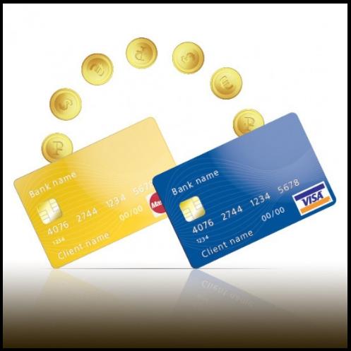 Кредитные карты и монеты