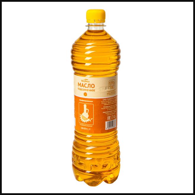 """Нерафинированное подсолнечное масло """"ВкусВилл"""""""