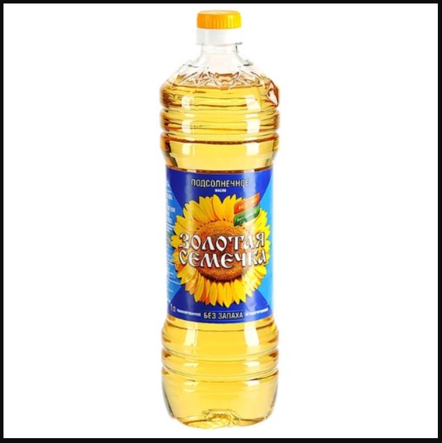 """Нерафинированное подсолнечное масло """"Золотая семечка"""""""
