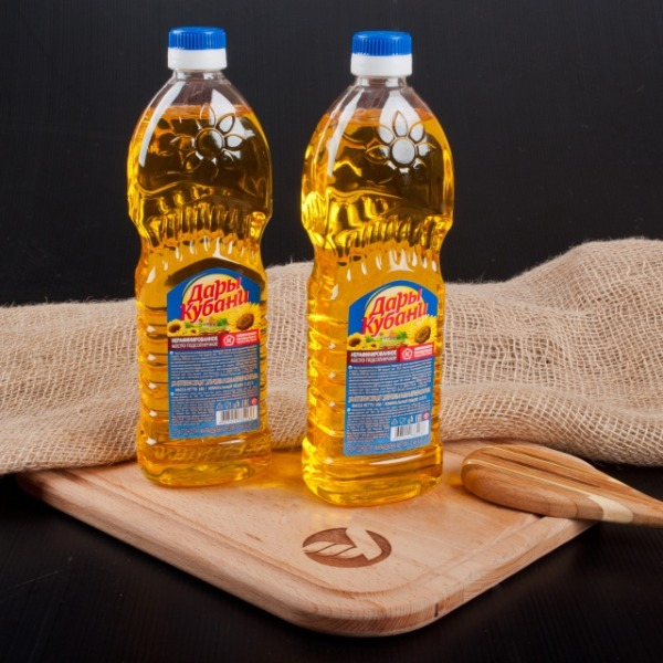 """Нерафинированное подсолнечное масло """"Дары Кубани"""""""