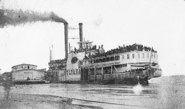 Старое фото парохода