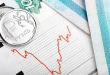 Рубль и график флуктации