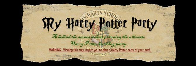 Афиша для вечеринки в стиле Гарри Поттера