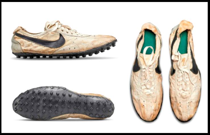 Стоптанные кеды Nike Waffle Racing Flat «Moon Shoe»