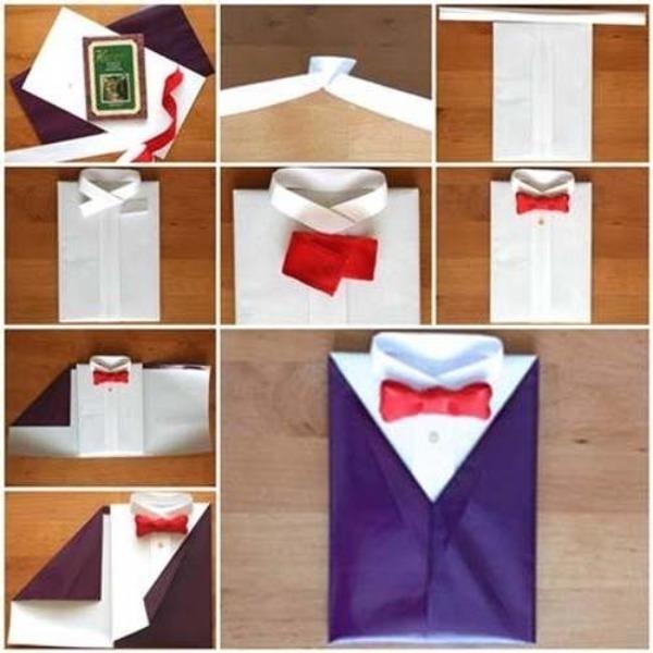 Упаковка в форме рубашки
